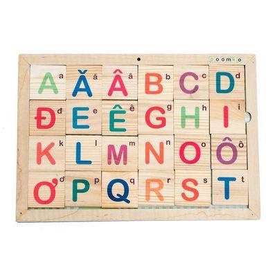 Bộ nhận biết chữ cái và hình khối Poomko AB13.3