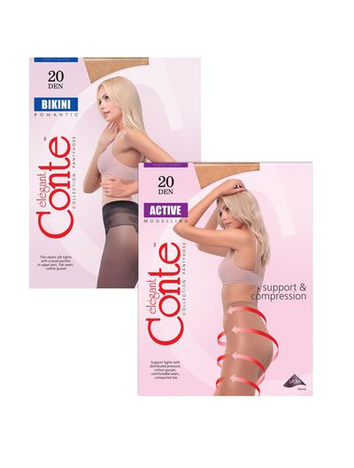 Combo 2 quần tất Nga Conte Active + Bikini 20D siêu mỏng và gợi cảm