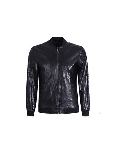Áo khoác da Biluxury cổ bóng chày cao cấp (đen)