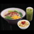 Set B - Mỳ Ramen Bò hầm + Cơm chiên tỏi (nhỏ) + Trà xanh Nhật Bản