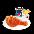2810005 1 miếng gà giòn cay + 1 khoai tây vừa + pepsi