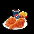 2811067 2 miếng gà giòn cay + 1 khoai tây lớn + pepsi
