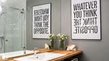 Tranh chữ slogan – xu hướng trang trí nội thất đỉnh cao bắt nguồn từ sự tối giản