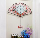 Đồng hồ treo tường nghệ thuật Chiếc quạt hoa đào KS-1963