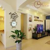 Đồng Hồ Treo Tường Trang Trí Bình Hoa Vàng-DH22