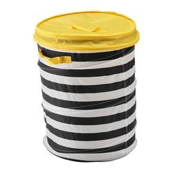 FLYTTBAR - Thùng để đồ gập gọn/Basket with lid, yellow