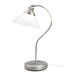 KROBYn - Đèn bàn/ Table lamp, nickel-plated, glass