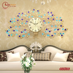 Đồng hồ treo tường cây hoa nghệ thuật DH86
