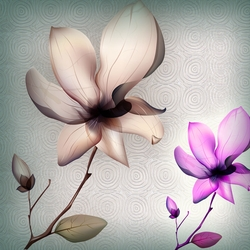 Bộ tranh Flowers 2 bức - 0395/7 (Kích thước: 40 x 60)