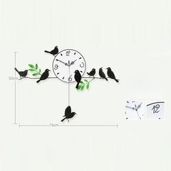 Đồng Hồ Treo Tường Giá Rẻ Họa Tiết Đàn Chim-DH23