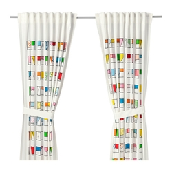 HEMMAHOS - Rèm cửa 250 x 120 x 2/Curtains, 1 pair